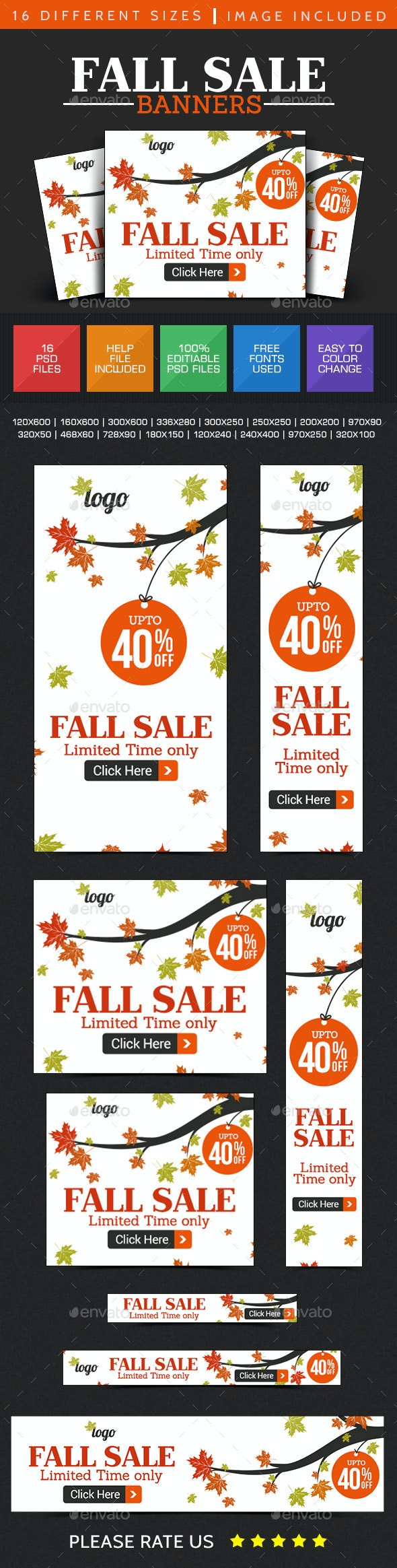 Fall Sale Banner Design - Banners & Ads Web Elements
