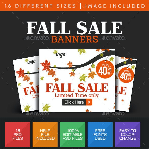 Fall Sale Banner Design