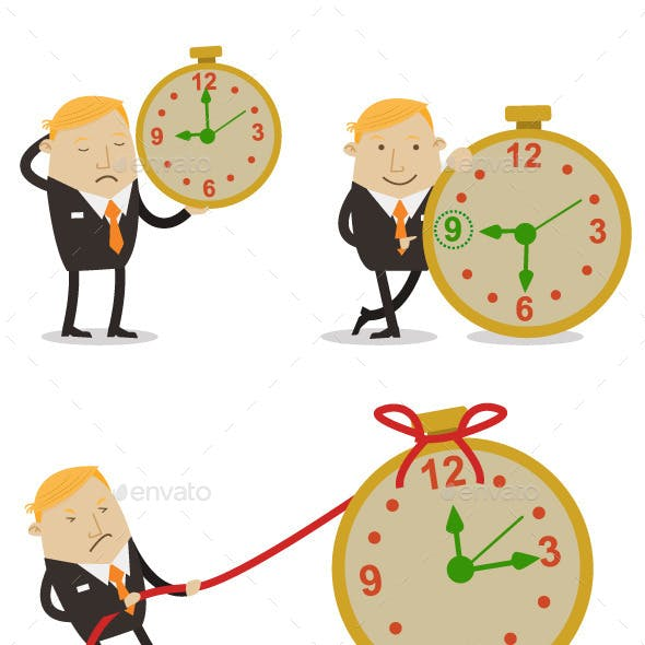 Businesman in Time Work