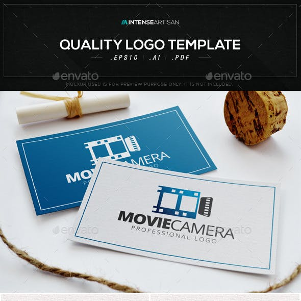 Movie Camera Logo Template