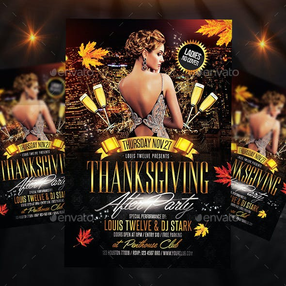 Thanksgiving After Party Flyer + FB Cover