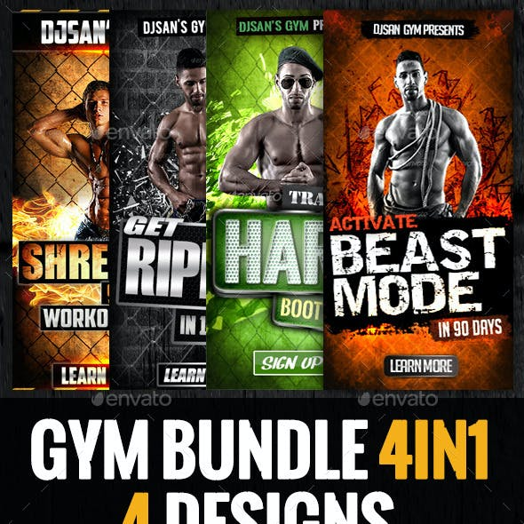 Gym and Workout Bundle 4in1