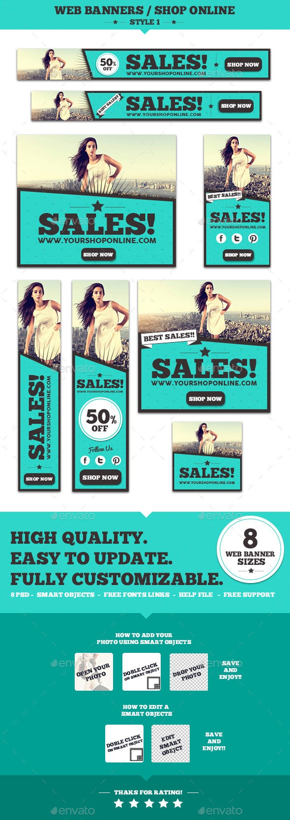 Web Banners Shop Online Style 1 - Banners & Ads Web Elements