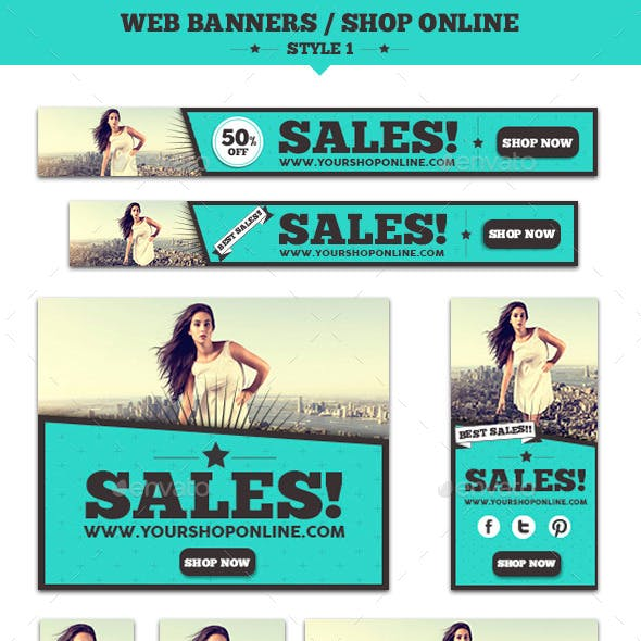 Web Banners Shop Online Style 1