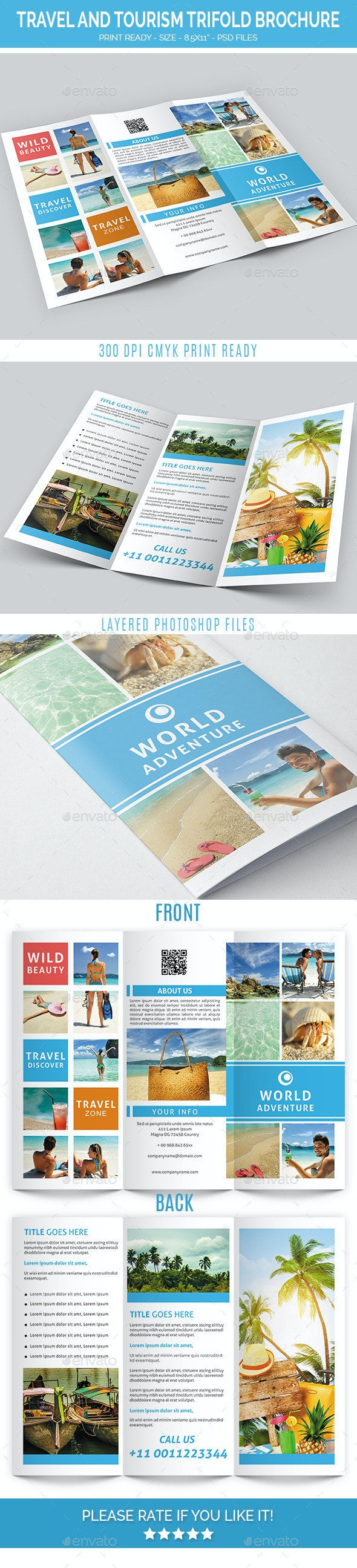 Travel and Tourism Trifold Brochure - Brochures Print Templates