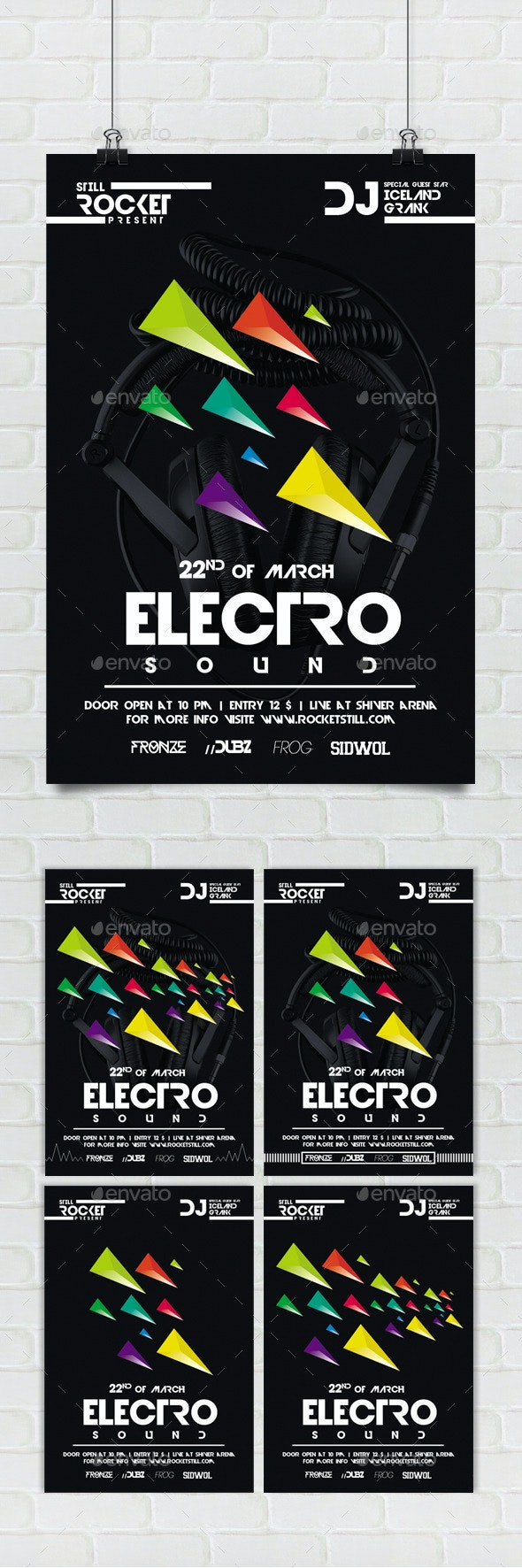 Electro Nu - Flyer - Events Flyers