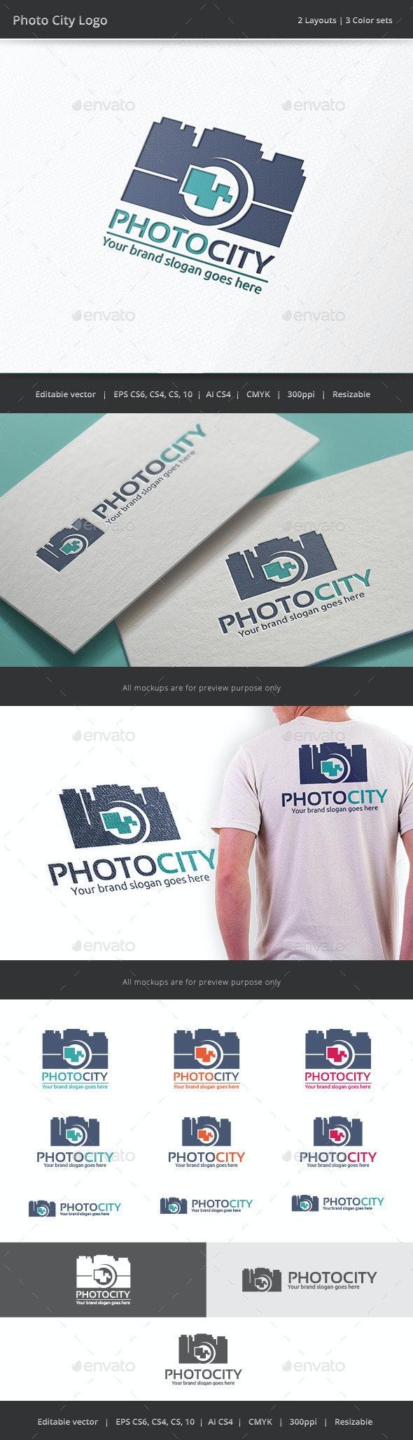 Photo City Camera Logo - Objects Logo Templates
