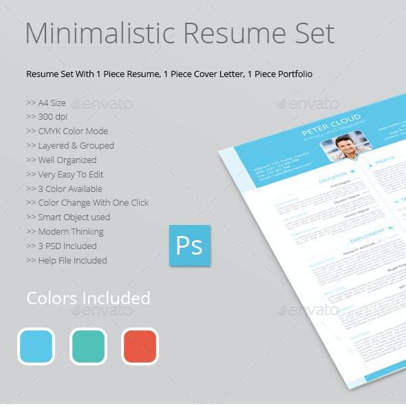 Minimalistic Resume Set