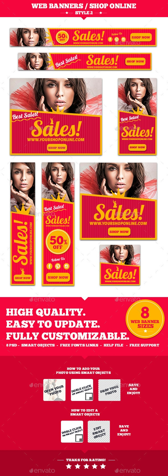 Web Banners Shop Online Style 2 - Banners & Ads Web Elements