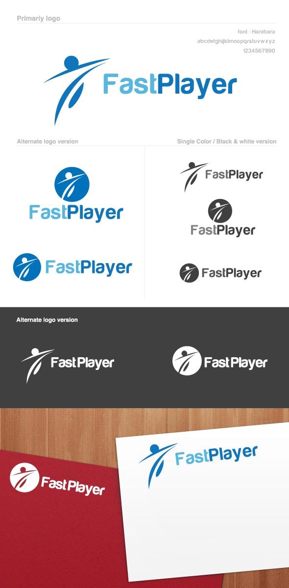 Fast Player Logo - Humans Logo Templates