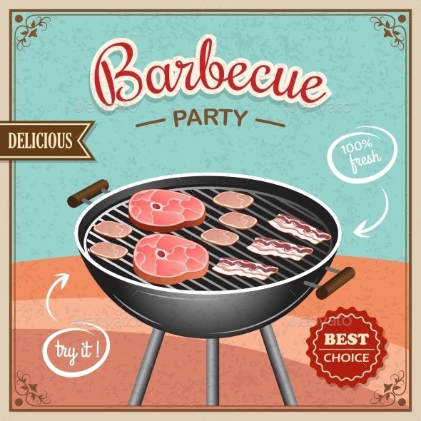Bbq Grill Poster - Food Objects