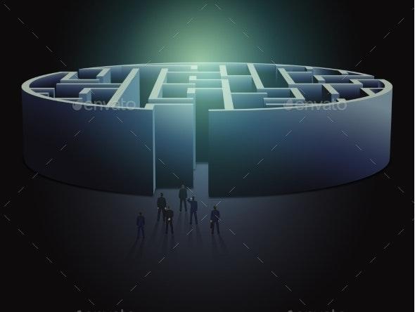 Maze Business Concept - Concepts Business