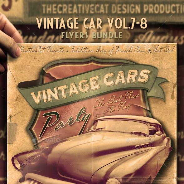 Vintage Car Flyer/Poster Bundle Vol. 7-8