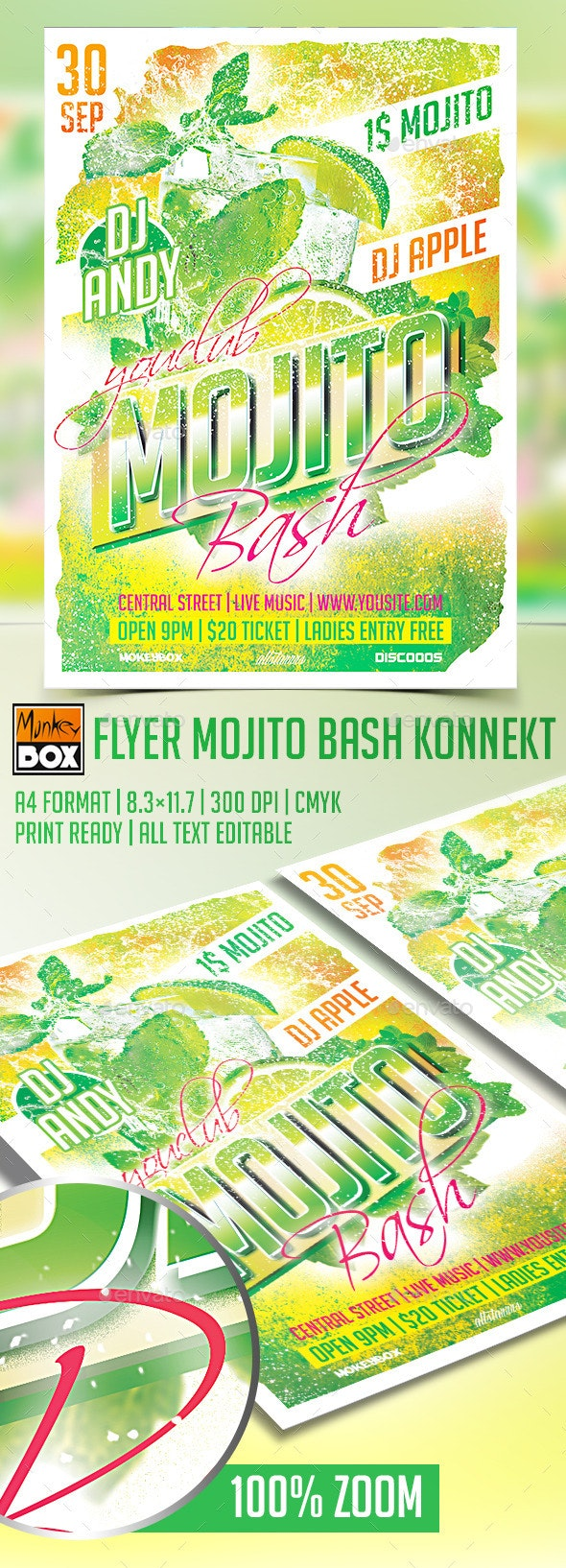 Flyer Mojito Bash Konnekt - Clubs & Parties Events