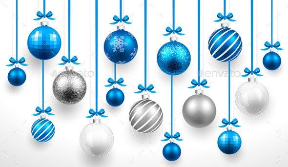 Christmas Blue Balls - Christmas Seasons/Holidays