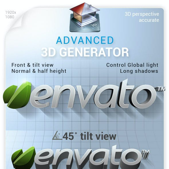 Advanced 3D Generator