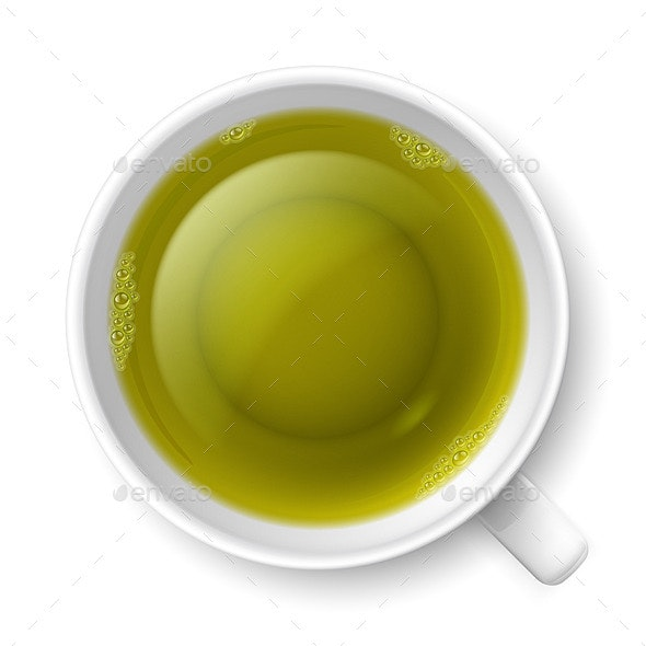 Cup of Green Tea - Food Objects
