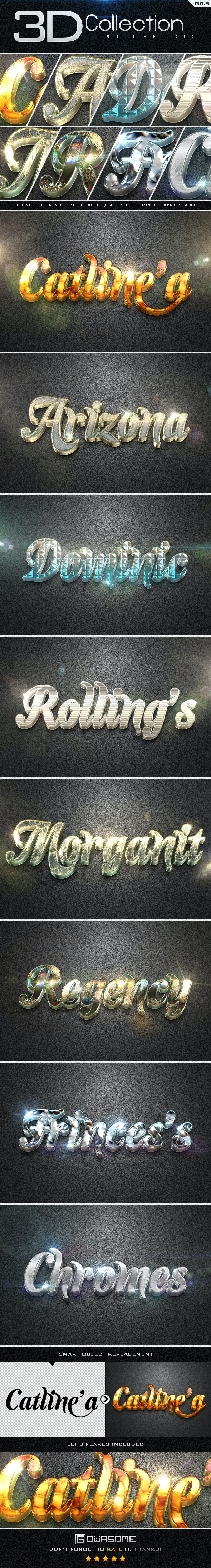3D Collection Text Effects GO.5 - Text Effects Styles