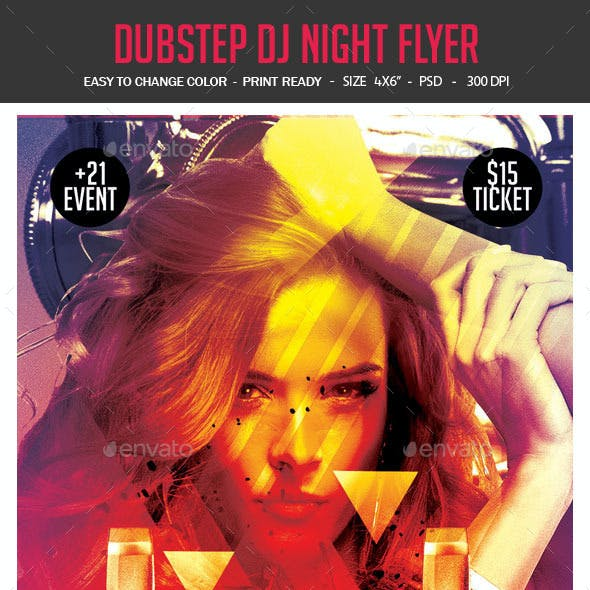 Dubstep DJ Night Flyer
