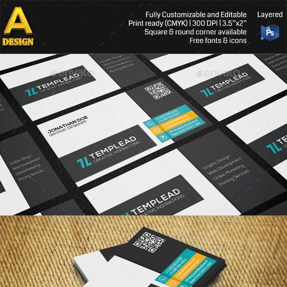 Modern Corporate Business Card AN0494