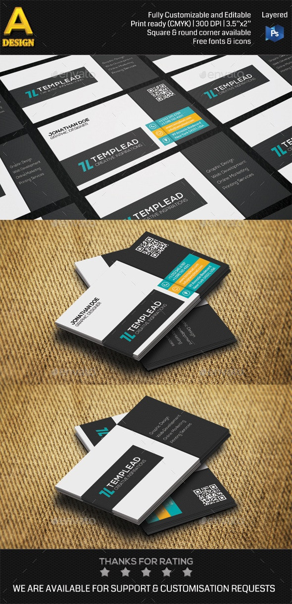 Modern Corporate Business Card AN0494 - Corporate Business Cards