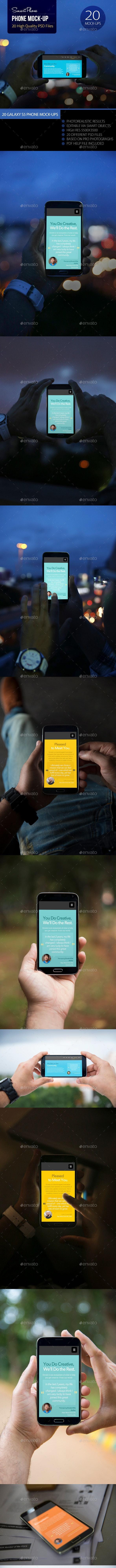 Phone Mock-Up - Mobile Displays
