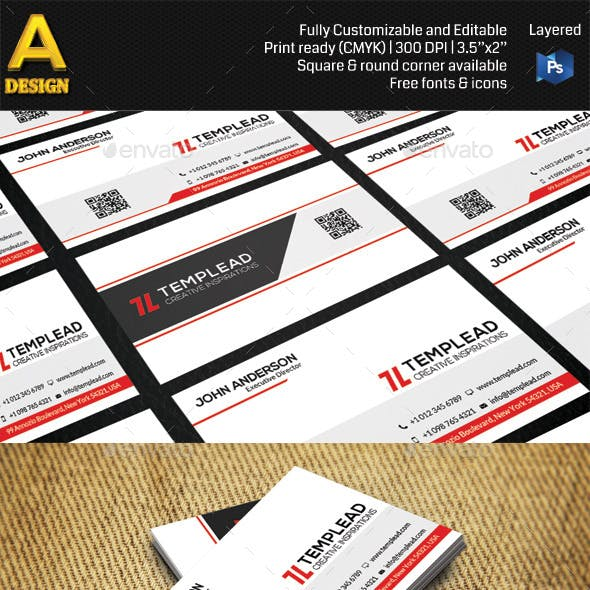 Modern Corporate Business Card HP0003