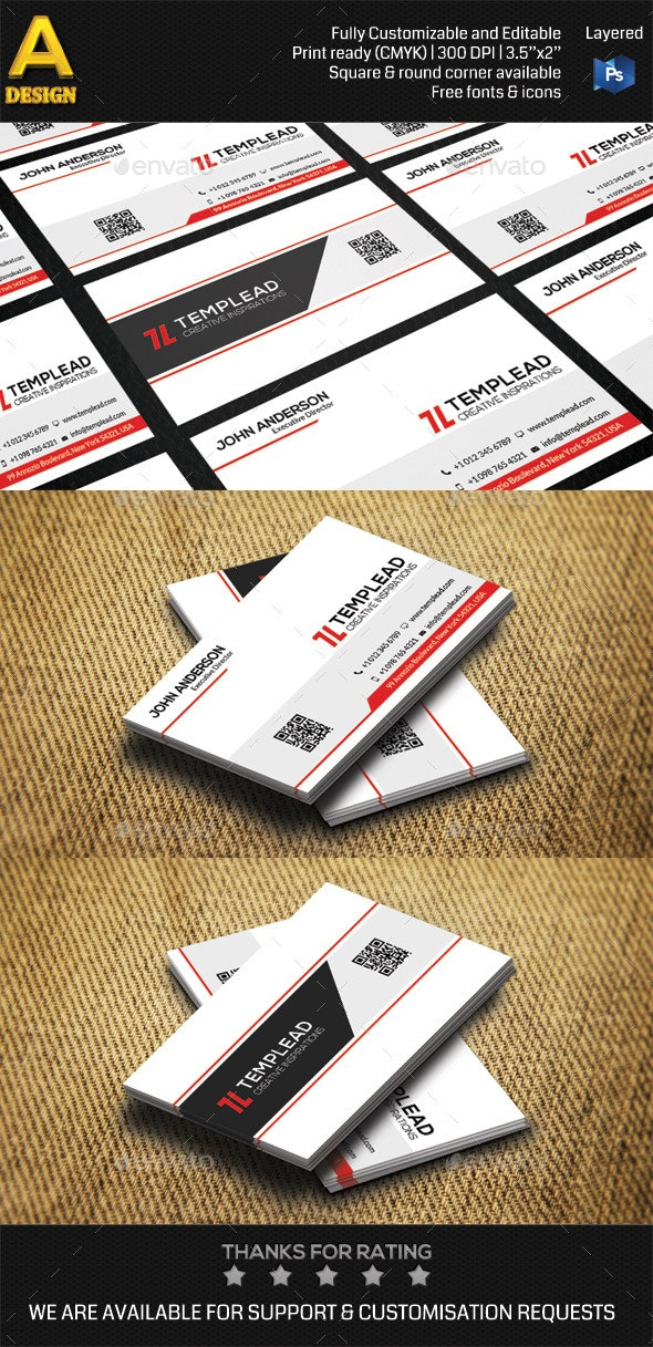 Modern Corporate Business Card HP0003 - Corporate Business Cards