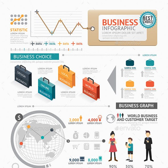 Infographic Business World Template Design
