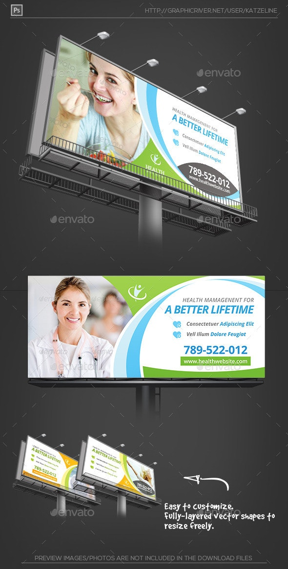Health Medical Care - Billboard Outdoor Template - Signage Print Templates