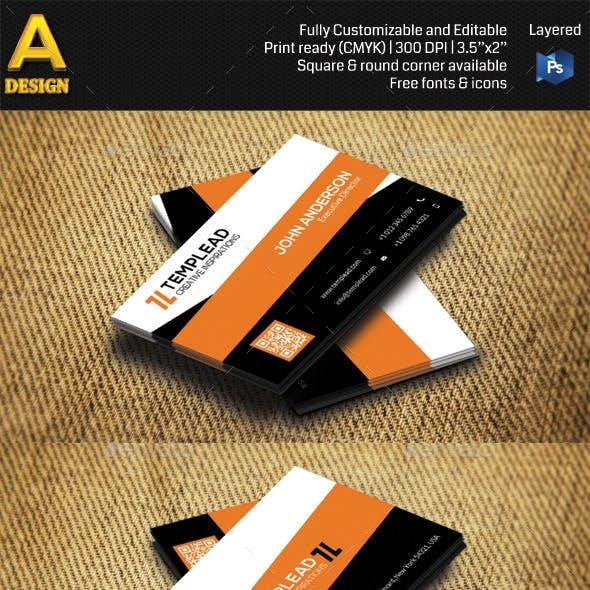 Modern Corporate Business Card HP0009