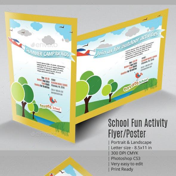 School Fun Activity Flyer or Poster
