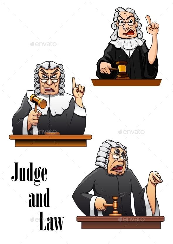 Cartoon Judge Characters - People Characters