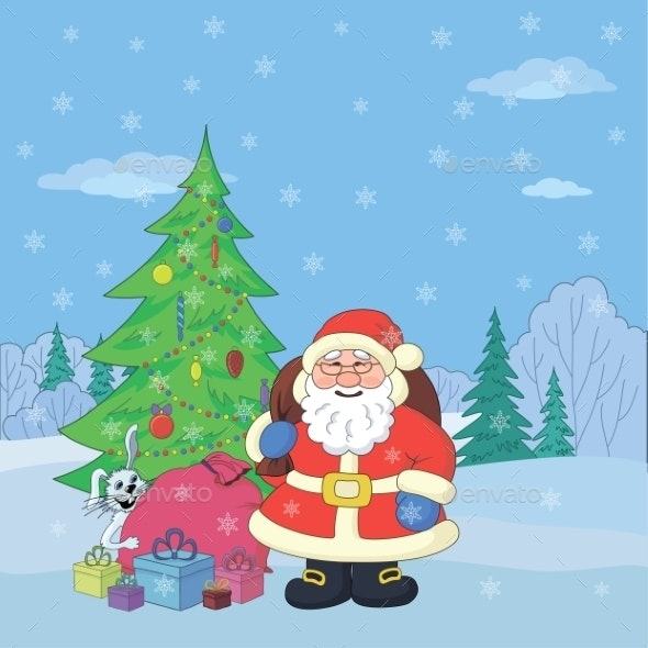 Santa Claus in Winter Forest - Christmas Seasons/Holidays