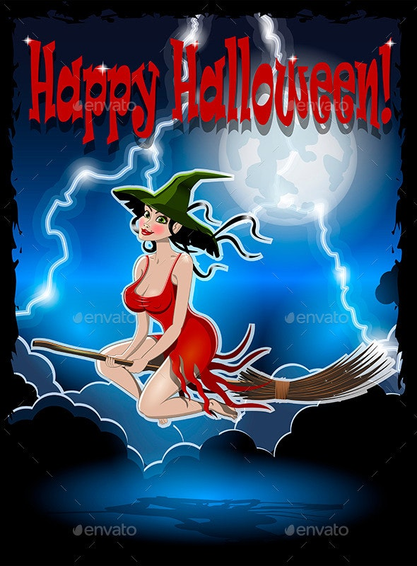 Beautiful Witch - Halloween Seasons/Holidays
