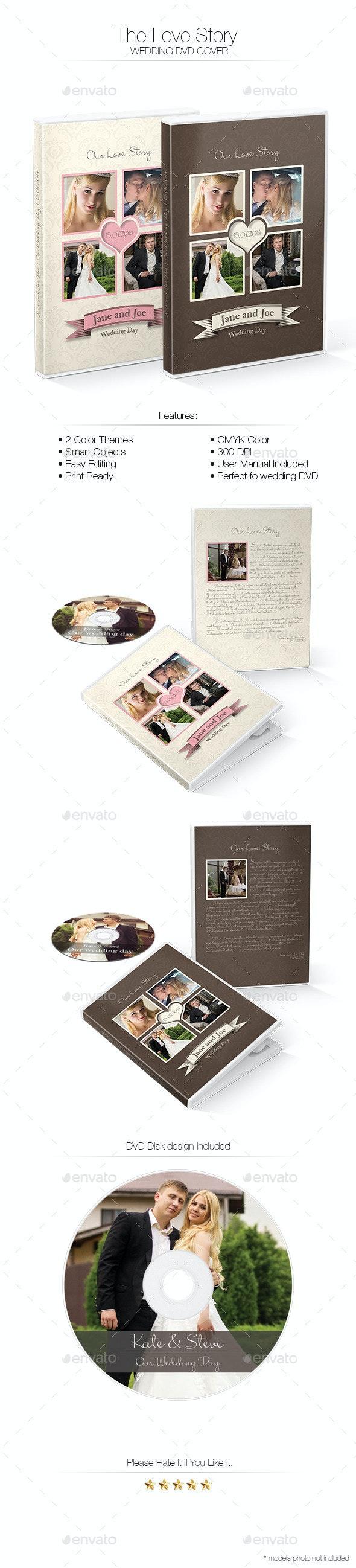 The Love Story DVD Cover - CD & DVD Artwork Print Templates