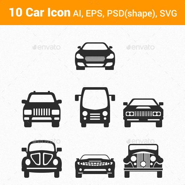 10 Vector Car Icon