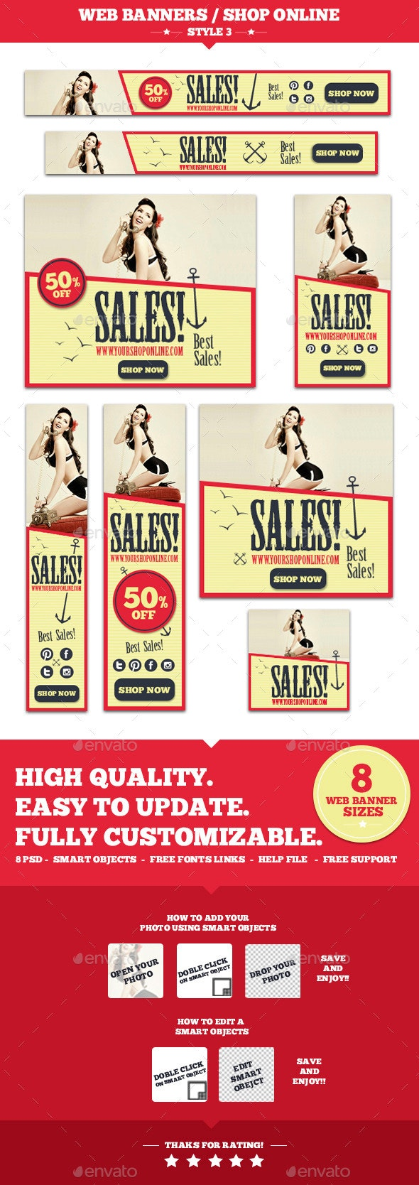 Web Banners Shop Online Style 3 - Banners & Ads Web Elements