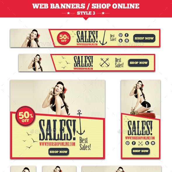 Web Banners Shop Online Style 3