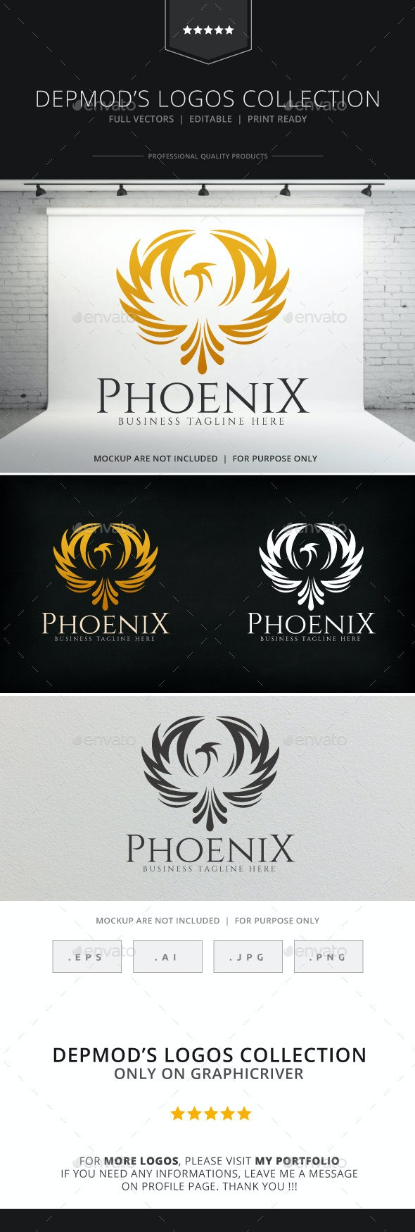 Phoenix Logo - Crests Logo Templates