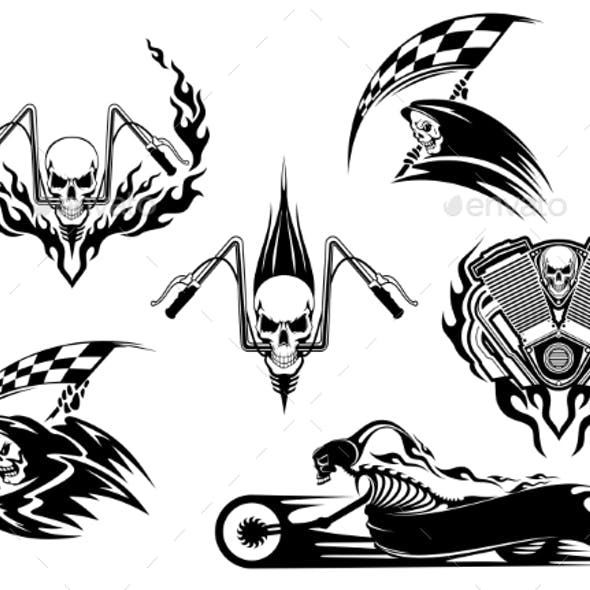 Death Road Accident and Racing Characters