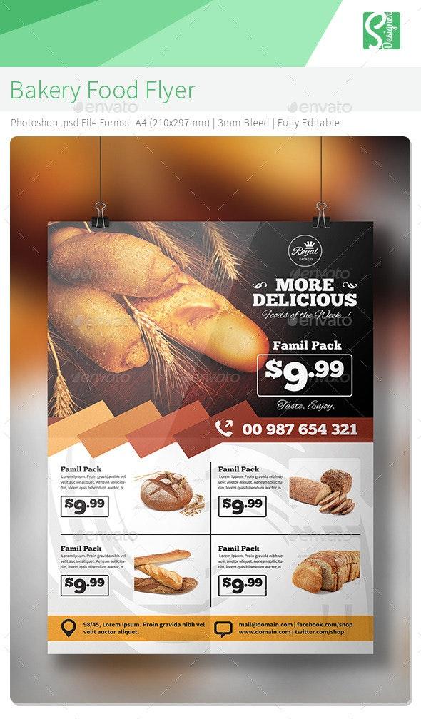 Bakery Food Flyer  - Commerce Flyers