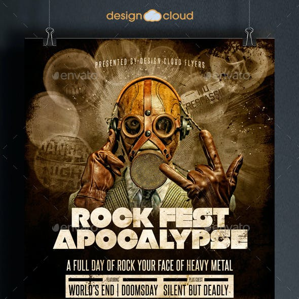 Rock Fest Apocalypse Poster Flyer Template