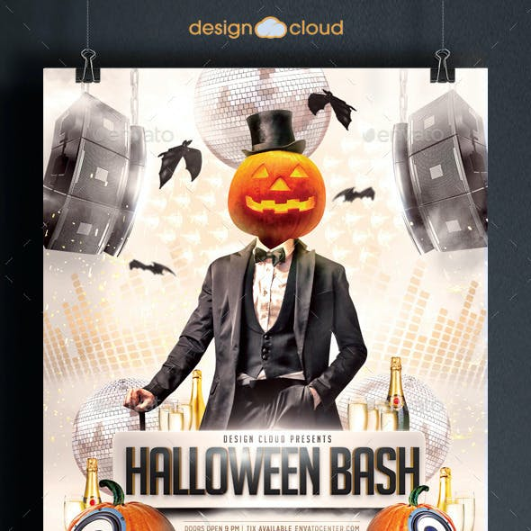 Halloween Bash Party Flyer Template