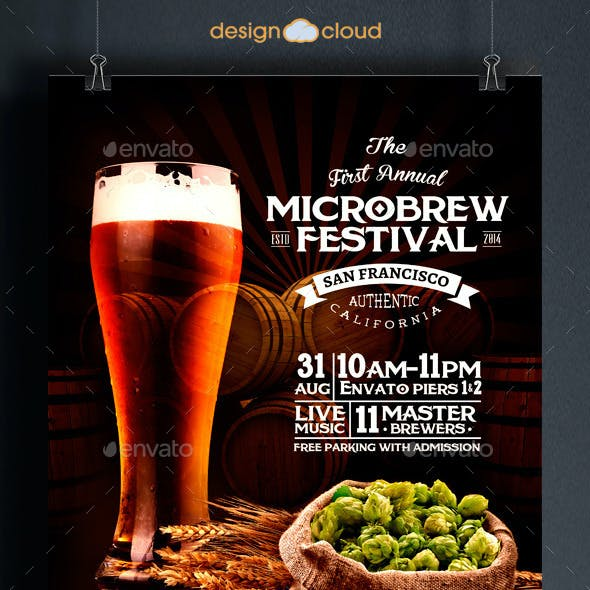 Microbrew Beer Festival Poster Flyer Template