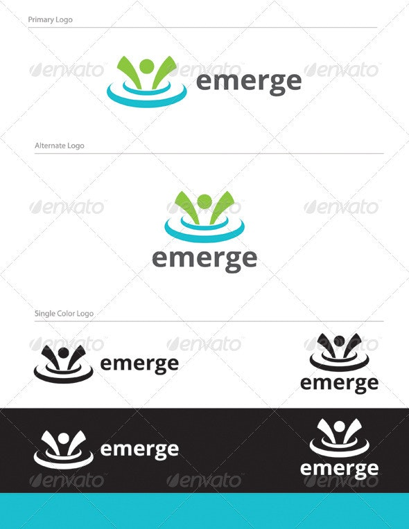 Emerge Logo Design - HUM-004 - Humans Logo Templates