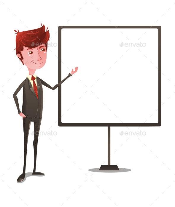 Businessman in Presentation  - Business Conceptual