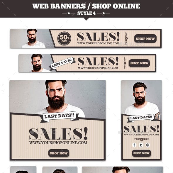 Web Banners Shop Online Style 4