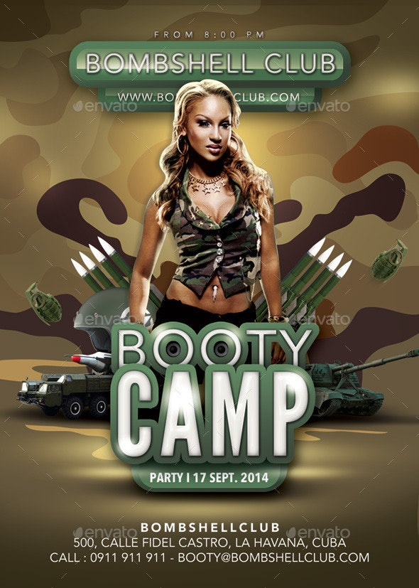 Bombshell Booty Camp Themed Army Party - Clubs & Parties Events