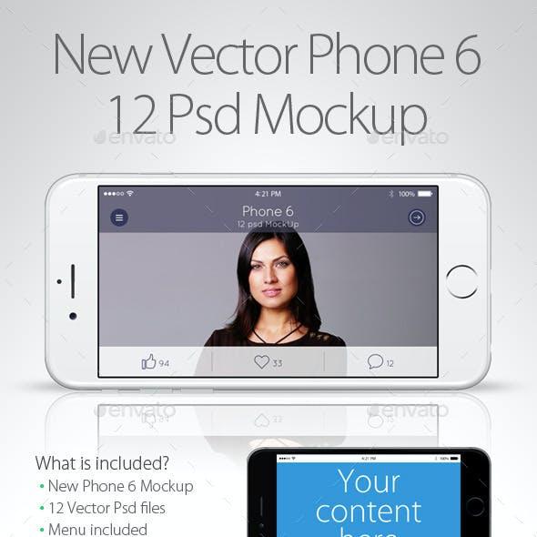 12 New Vector Phone 6 Psd Mockup